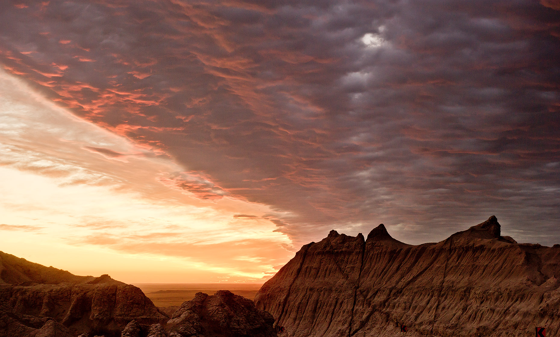 Sunrise in the Badlands