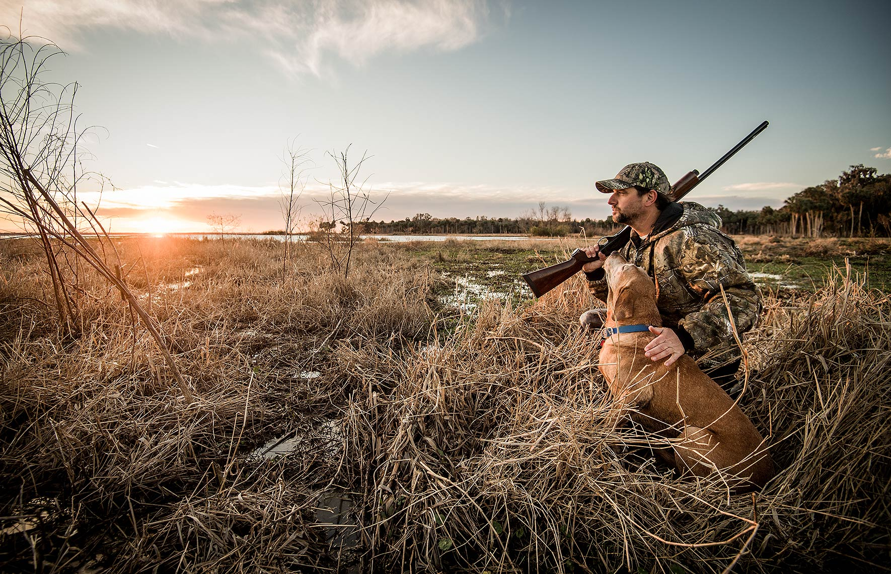 Hunting for Waterfowl with Dog