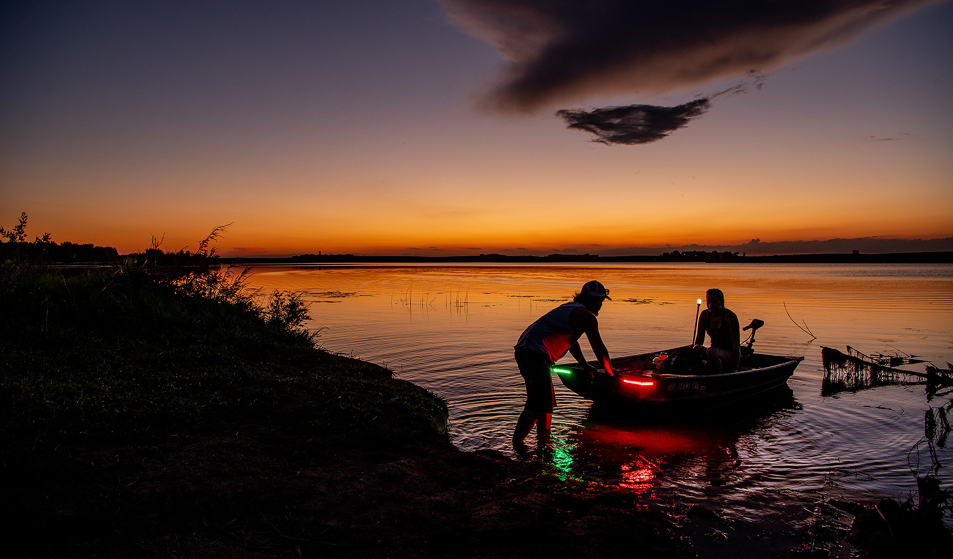 Sunset Fishing Photograph
