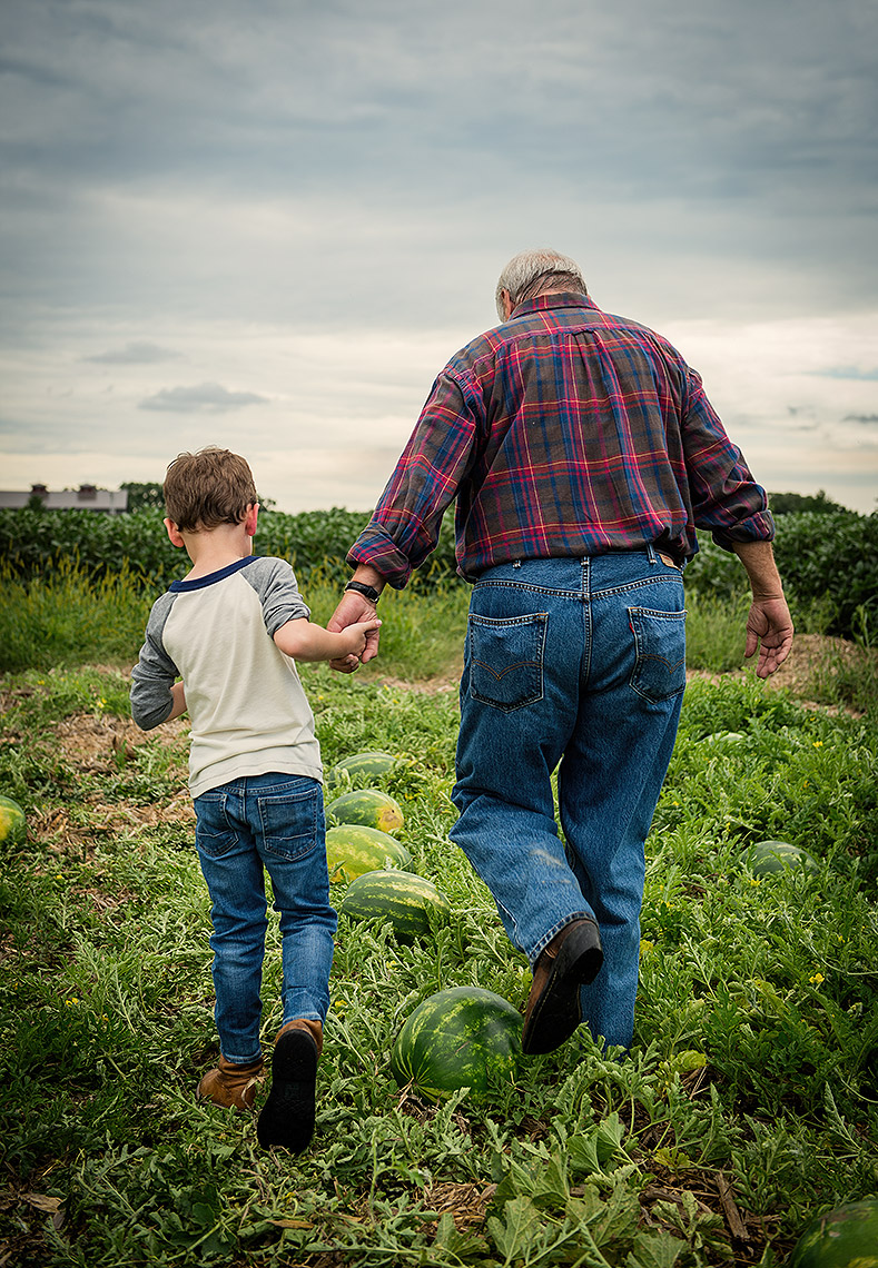 Grandpa and Grandson Photograph in Midwest