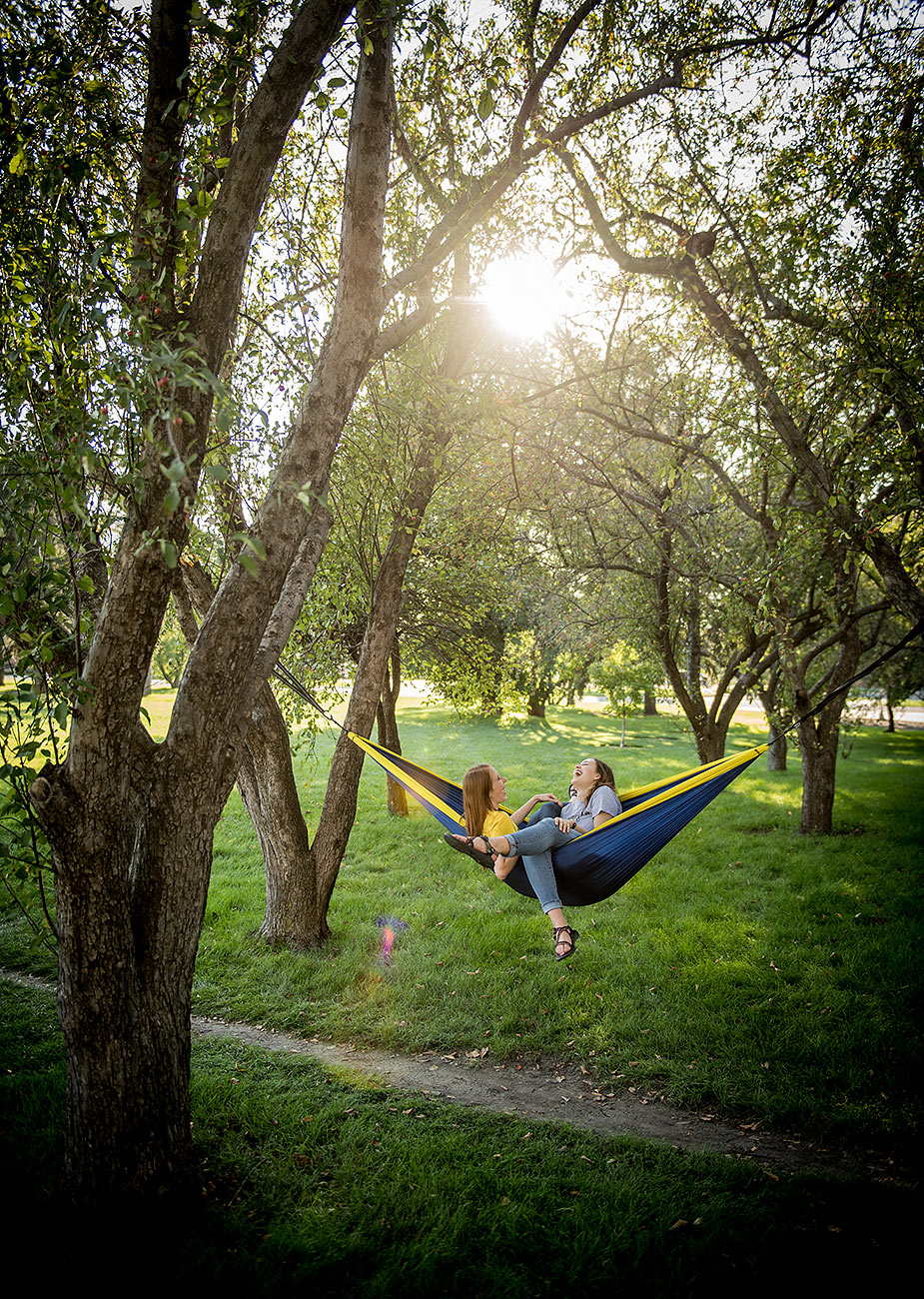 Hammocking on Campus