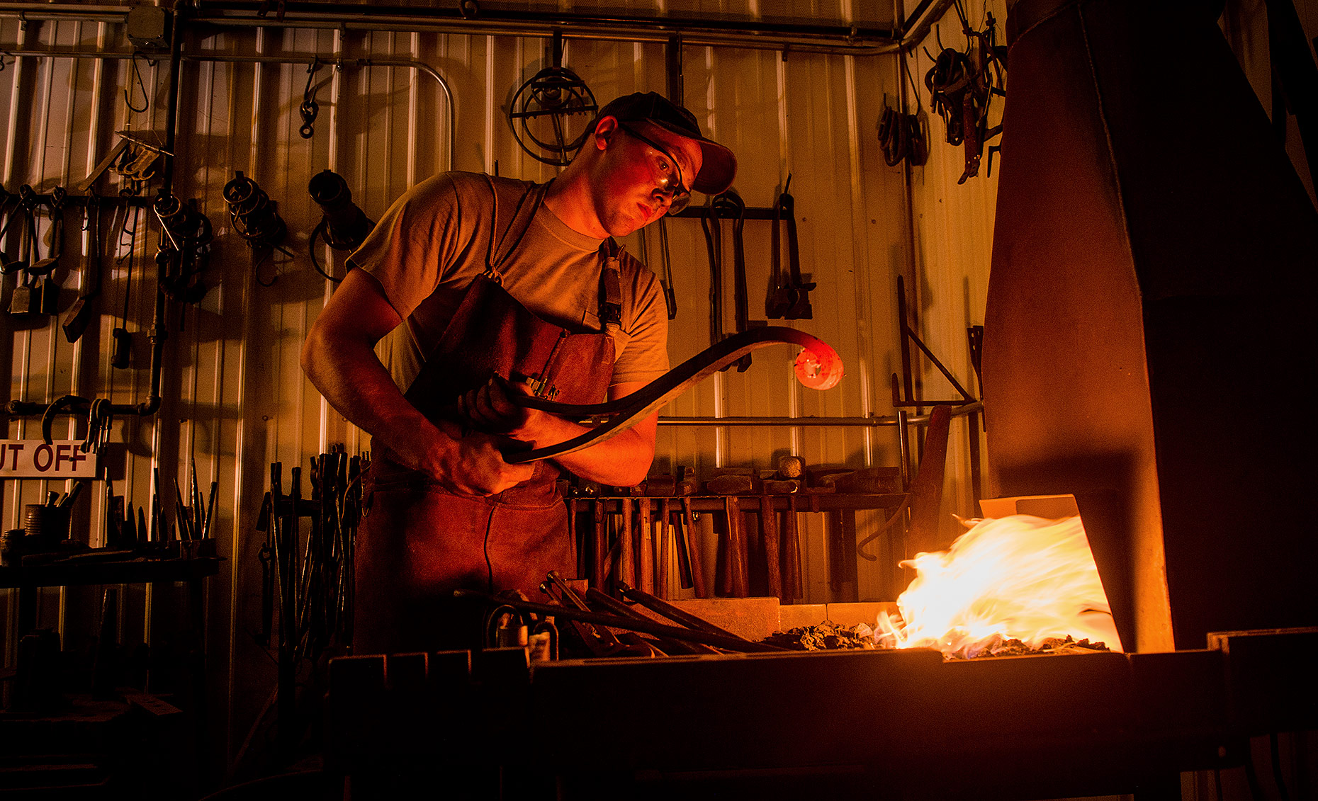Blacksmith Working with Fire
