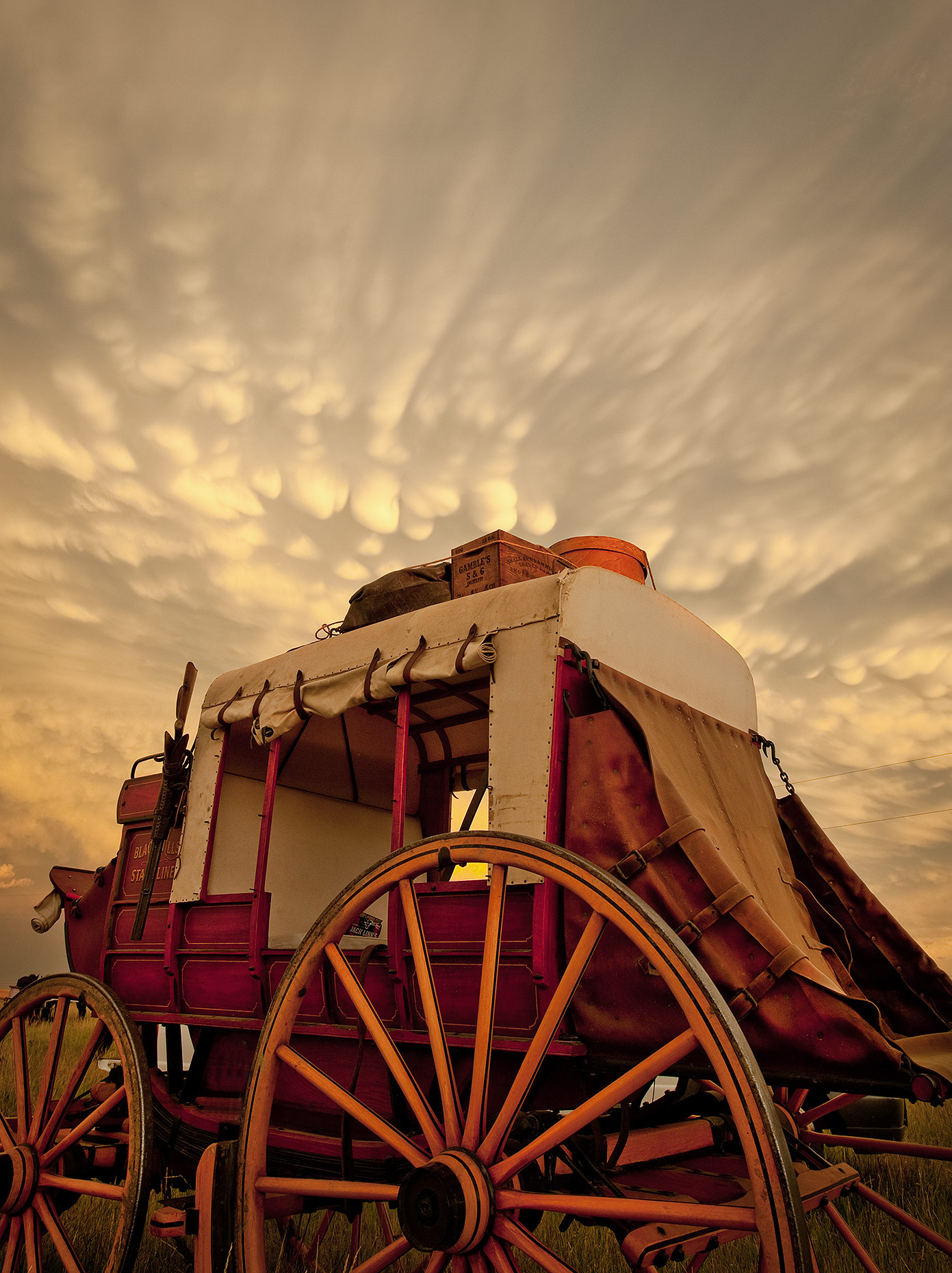 Stagecoach and Thunderstorm