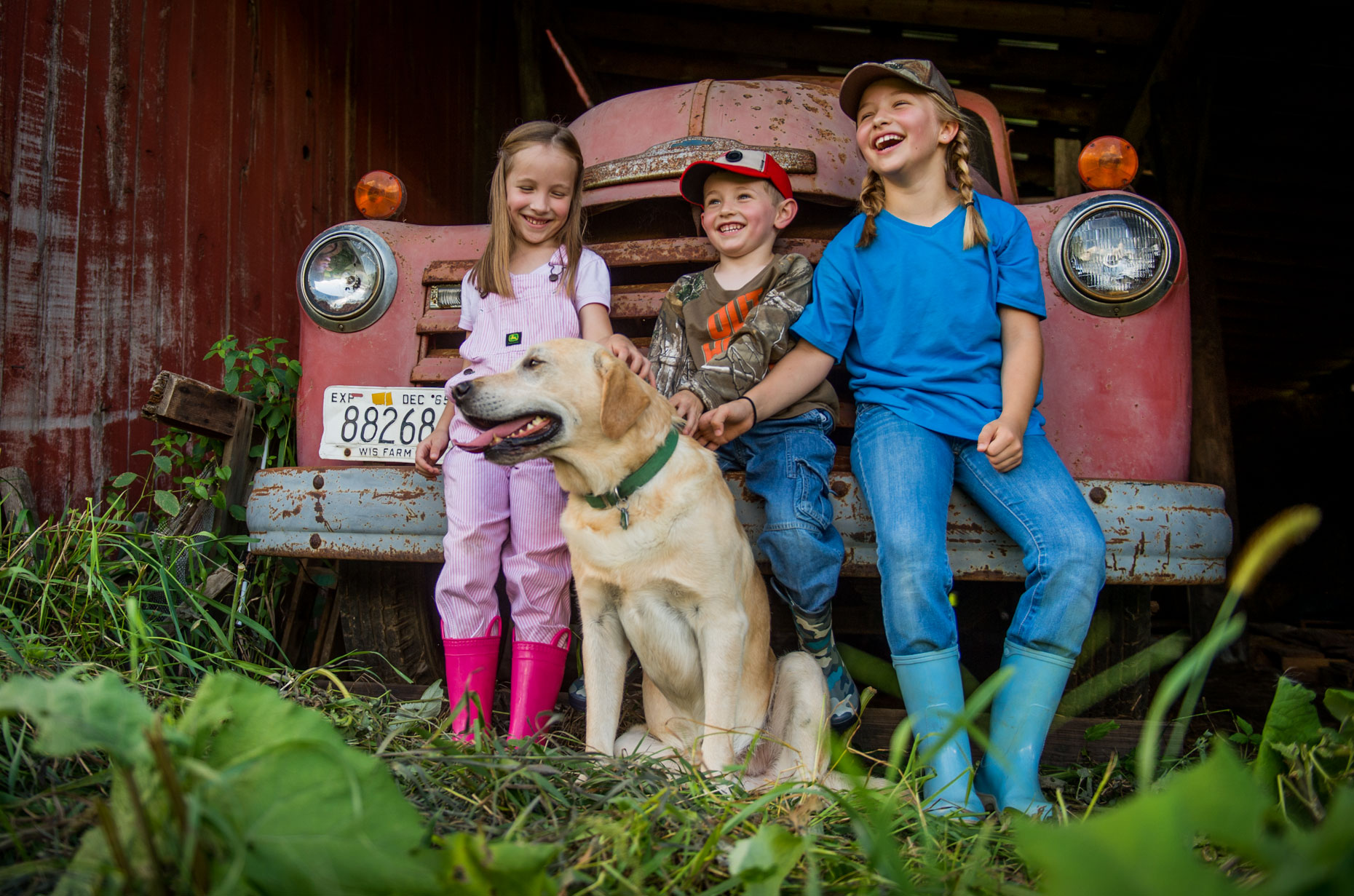 Kids and Antique Truck
