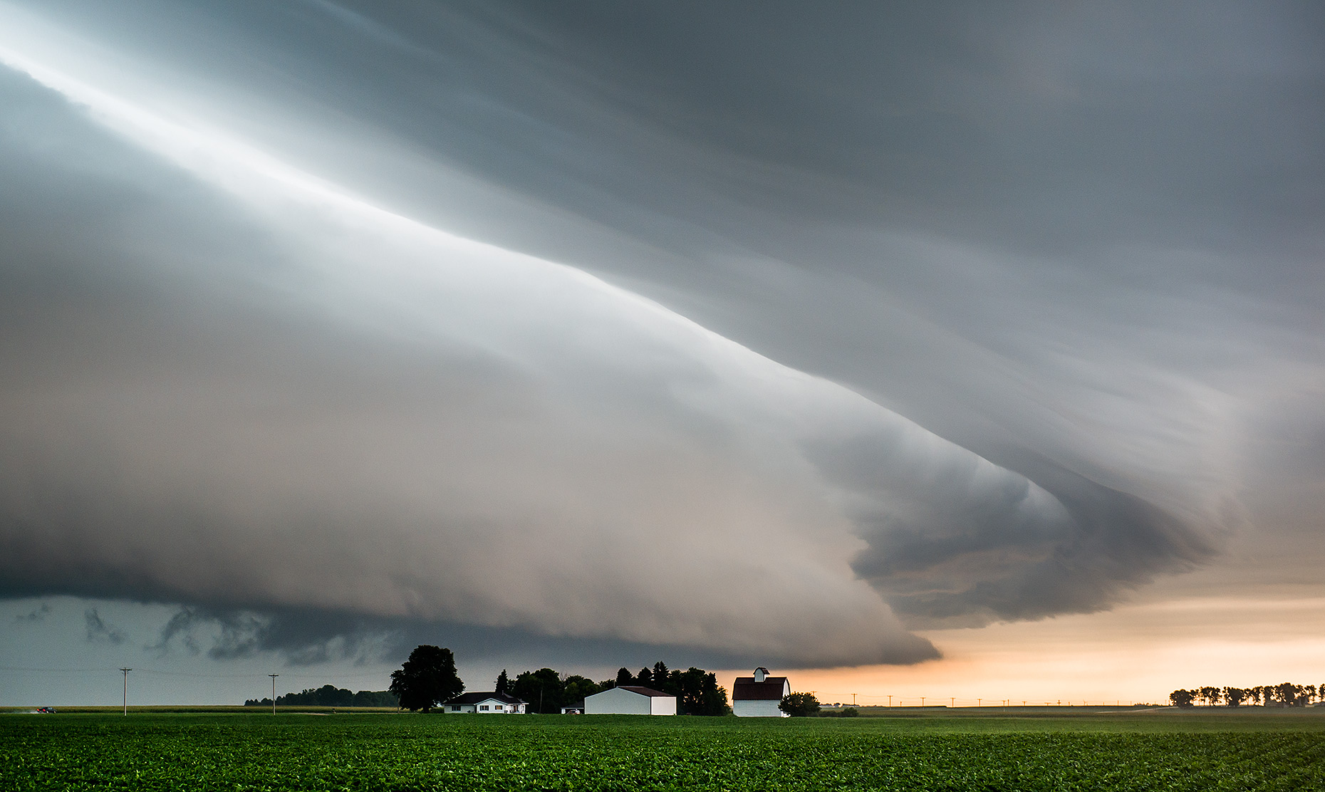 Thunderstorm over Midwest Farm