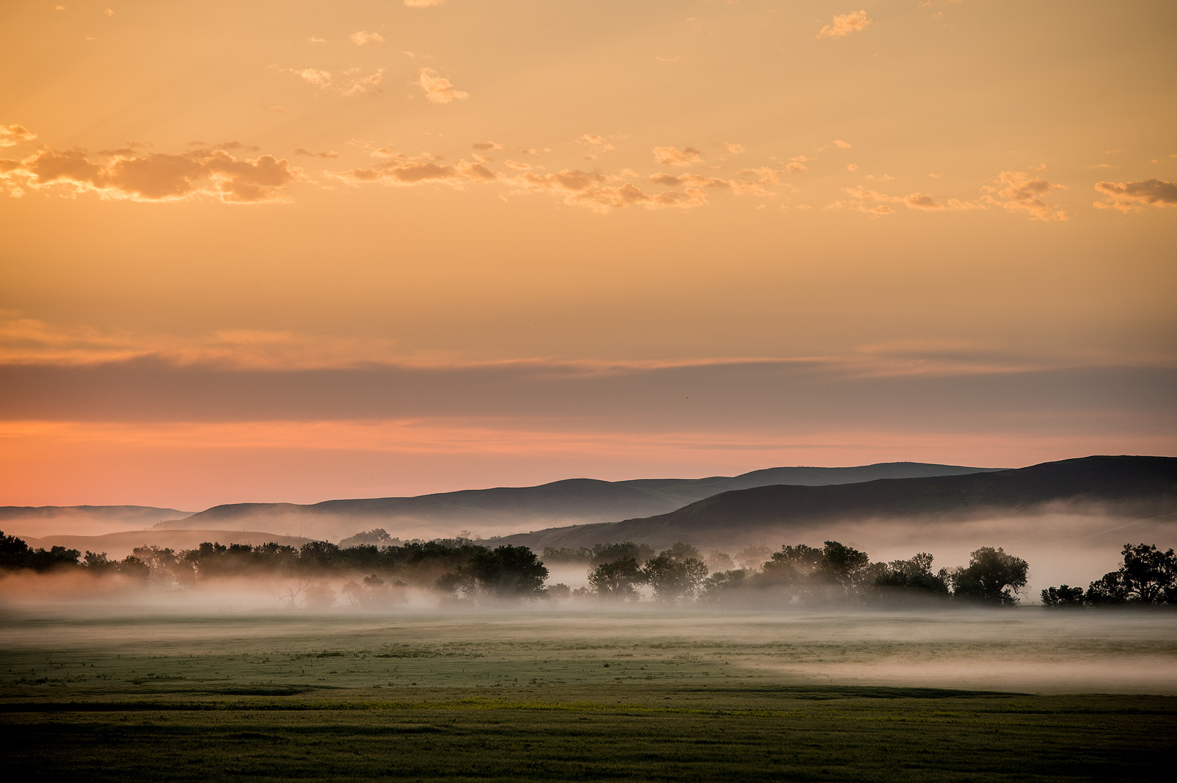 Morning Fog on Great Plains Photo
