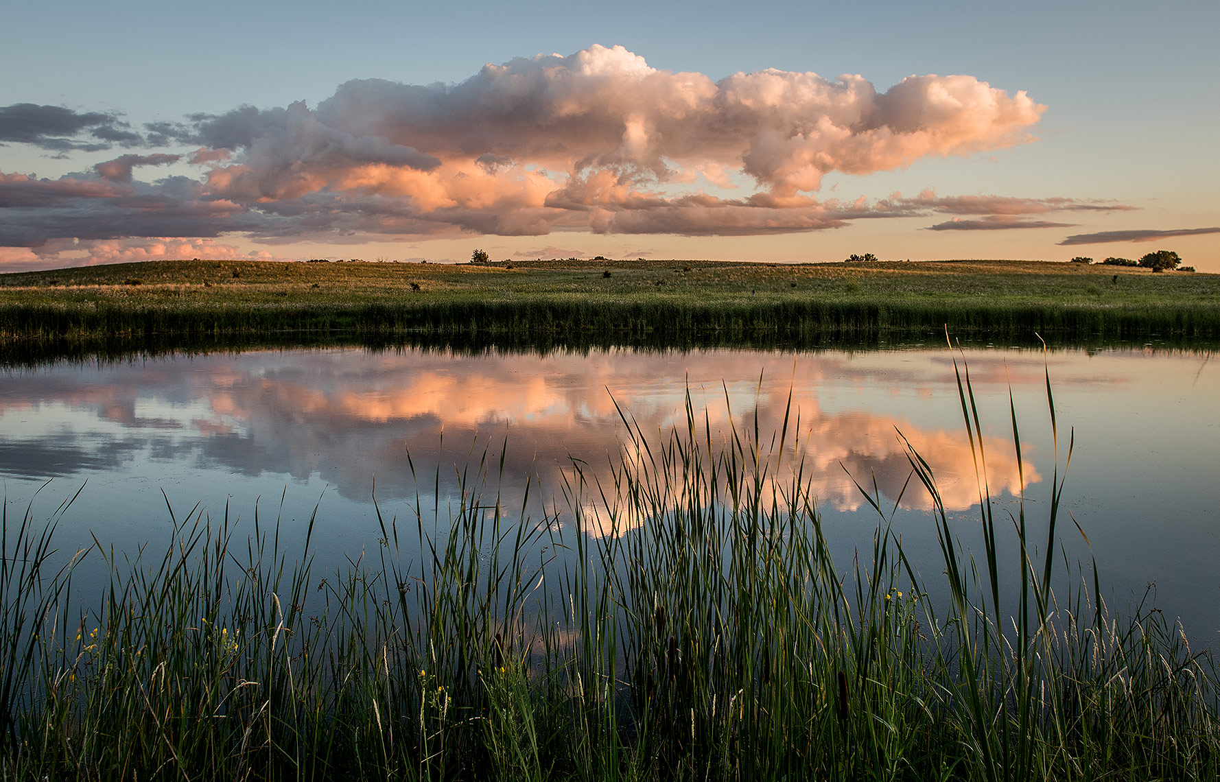 Clouds and Wetland Photography