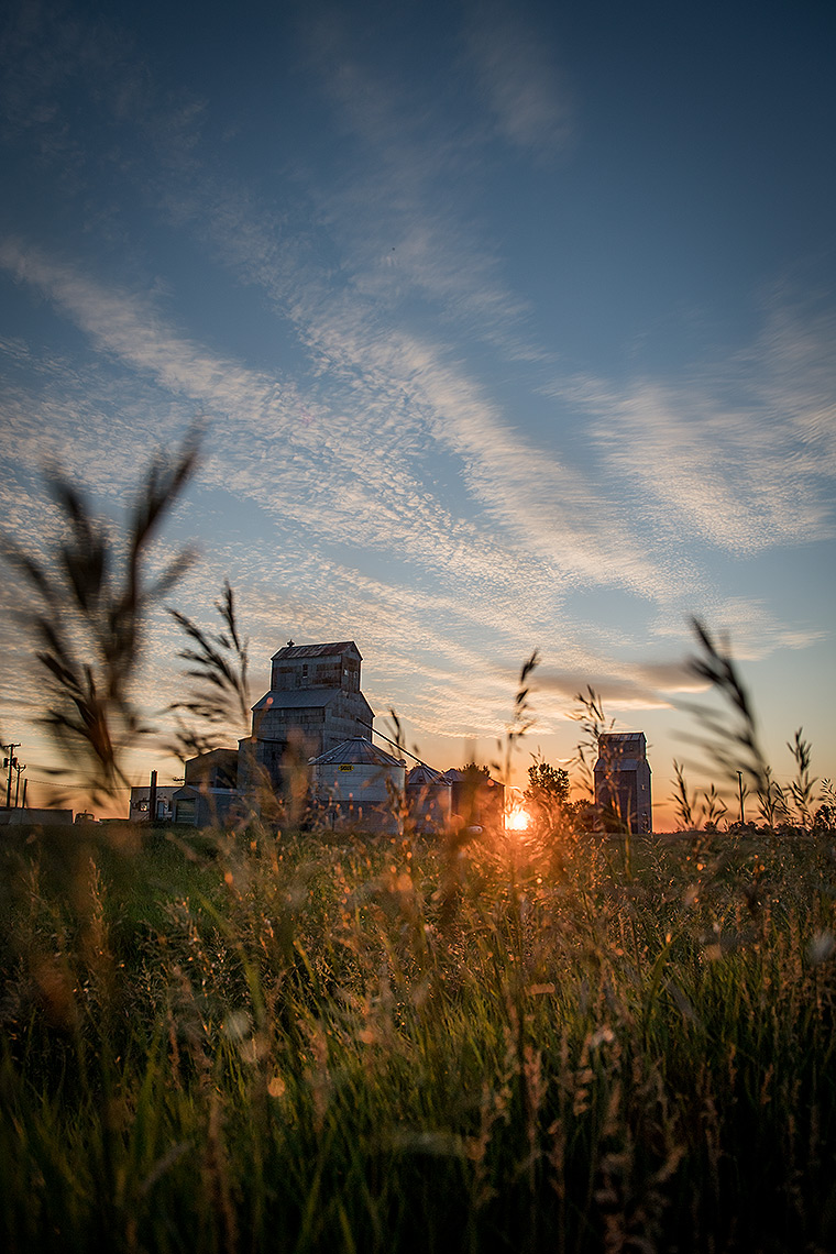 Grain Elevator at Sunset