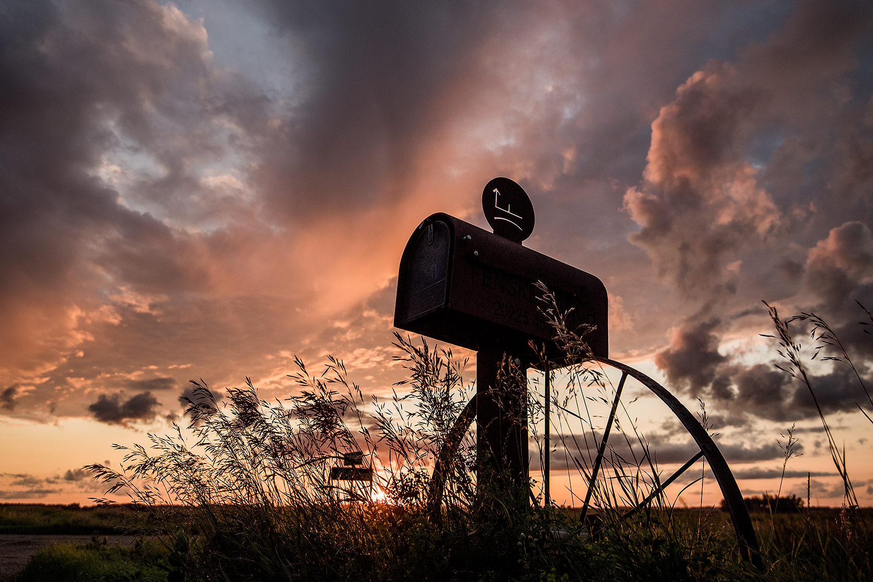 Farm Mailbox and Sunset