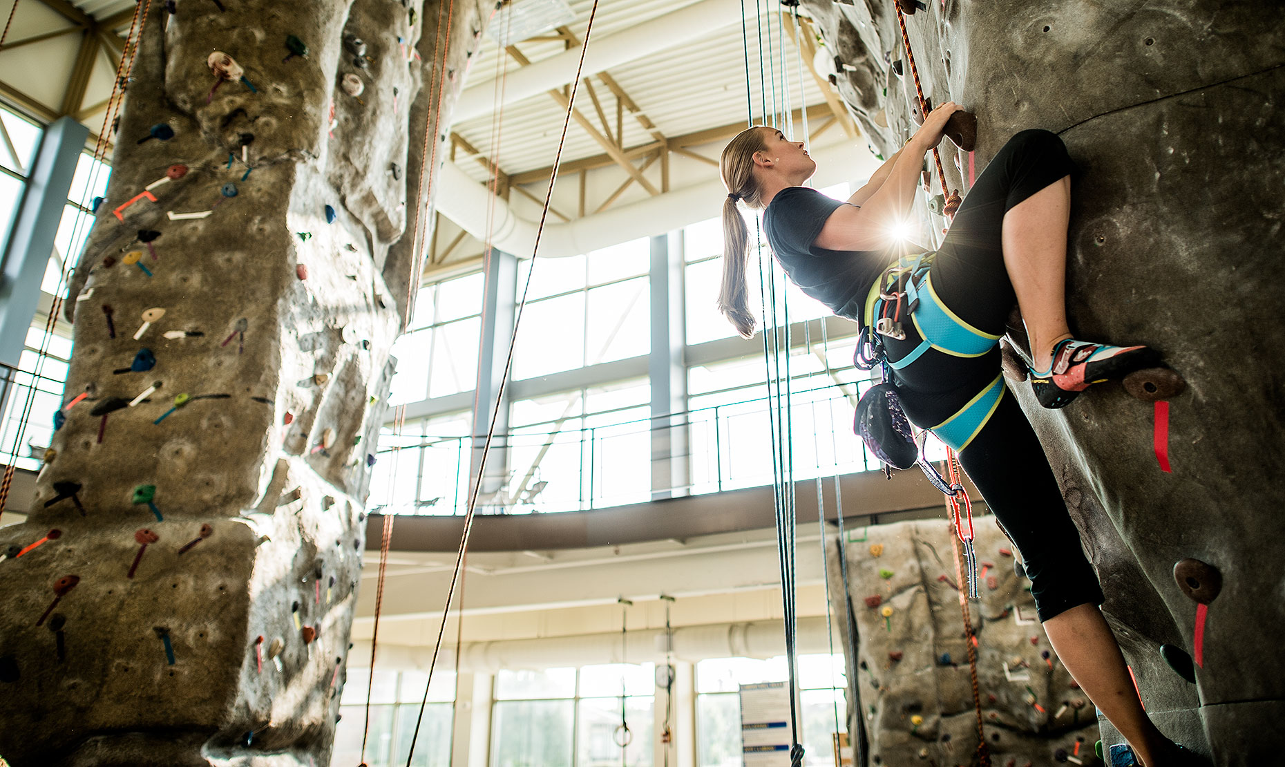 Rock Climbing at University Wellness Center