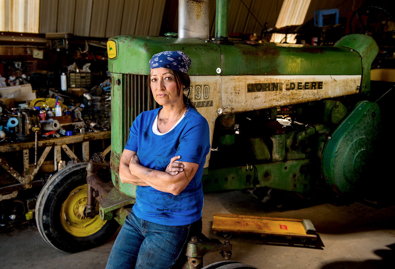 Female Tractor Mechanic