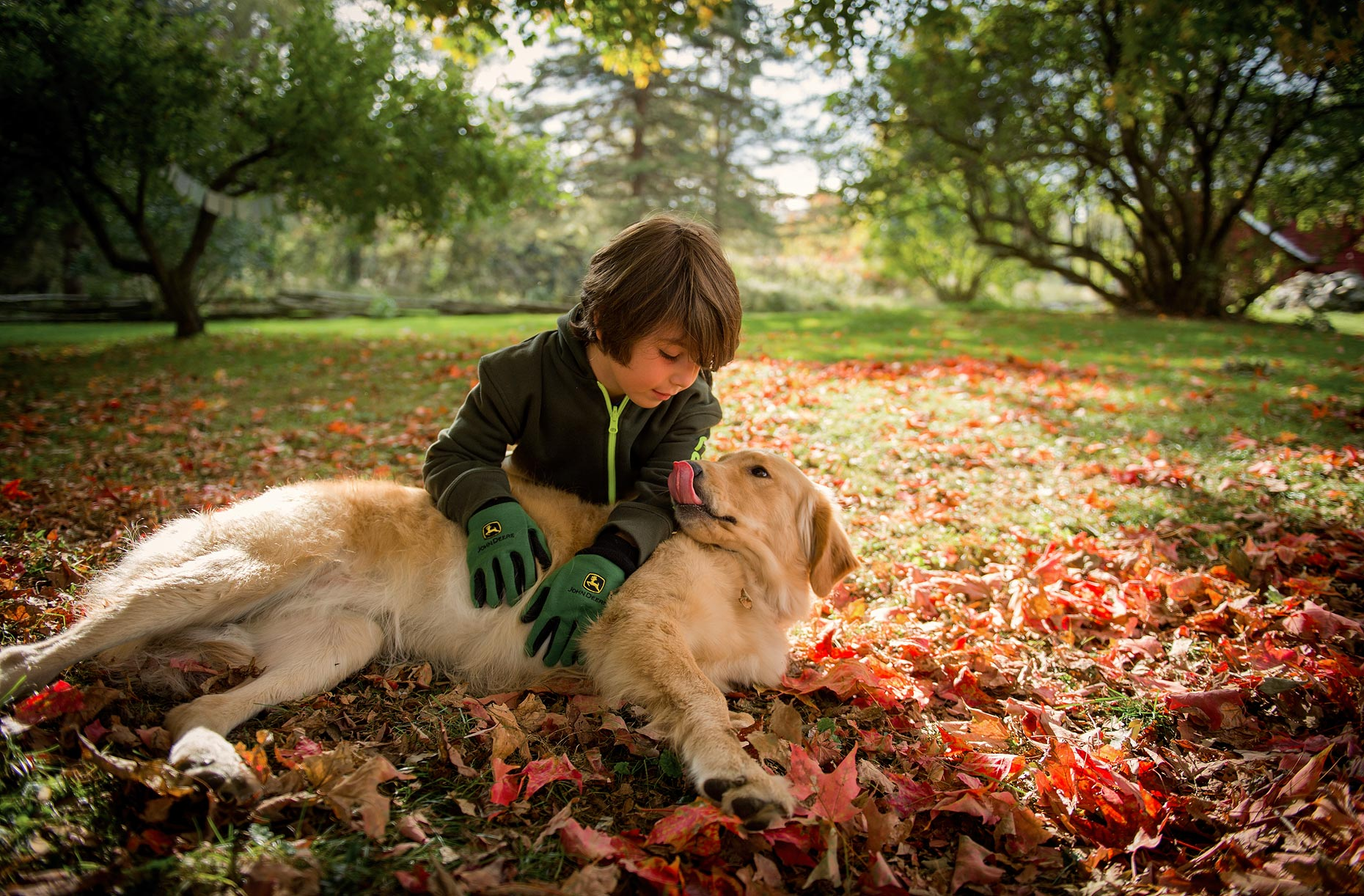 Boy and Dog